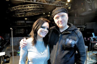 Anette and Mika at Nosturi rehearsals 2011